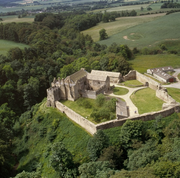 Aerial view - Aydon Castle