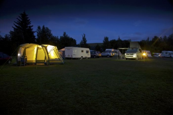 campsite at night