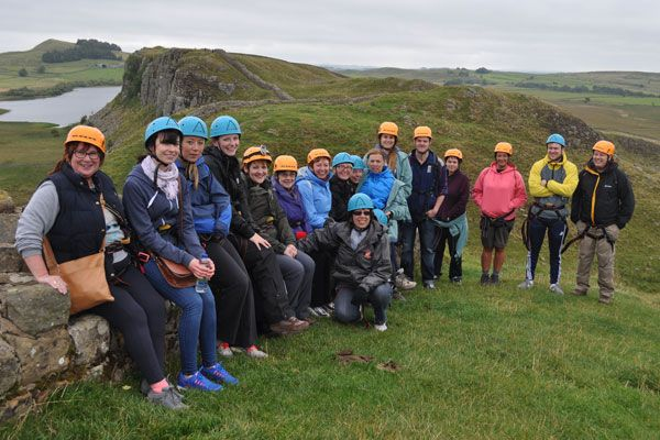 Lloyds Bank colleagues conquer Hadrian's Wall for local charity