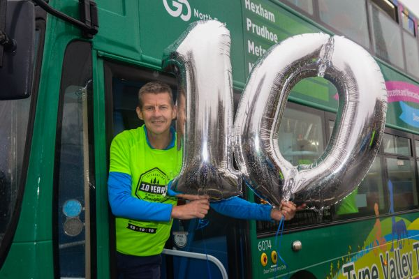 A busload of celebrations for Kielder Marathon's 10th anniversary