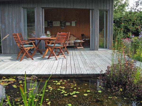Back garden at Allenmill Cottages