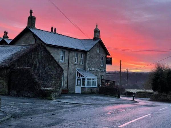 sunset at Barrasford Arms