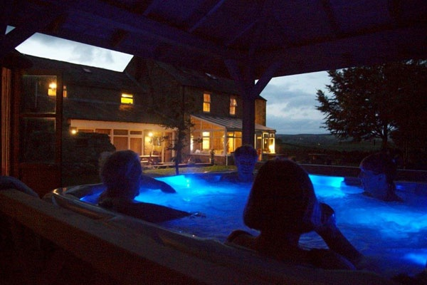 Hot tub at night