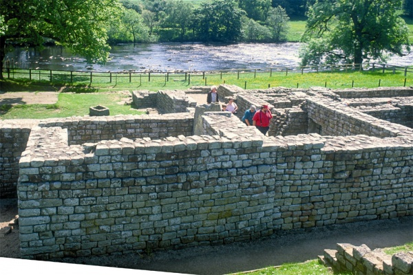 Chesters Roman Fort remains