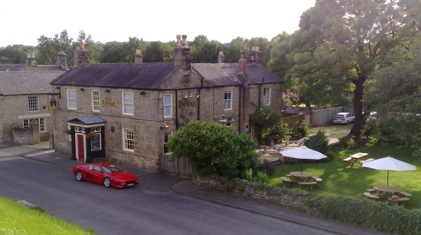 Outside the Dyvels Inn Restaurant in Corbridge
