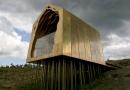 Side of Freyas Cabin in Kielder