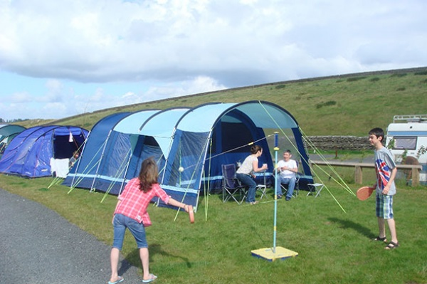 Grass Tent Pitch