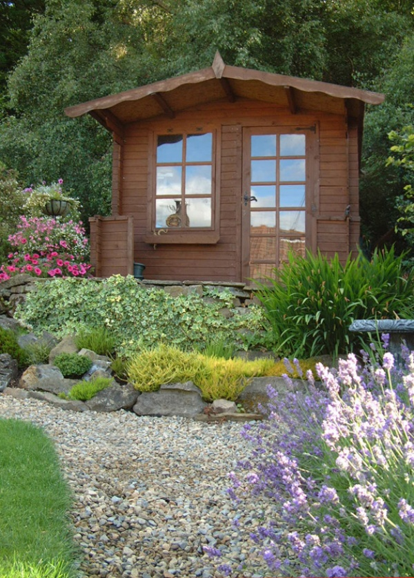 Summer house in the garden