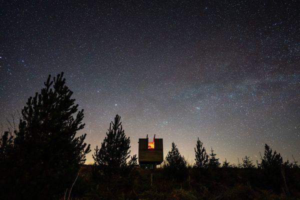 Kielder Observatory deep in Kielder forest