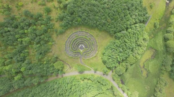Labyrinth from the air