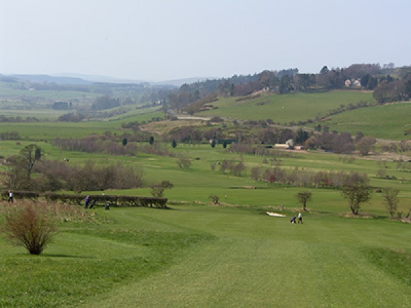 View across Rothbury Golf Club