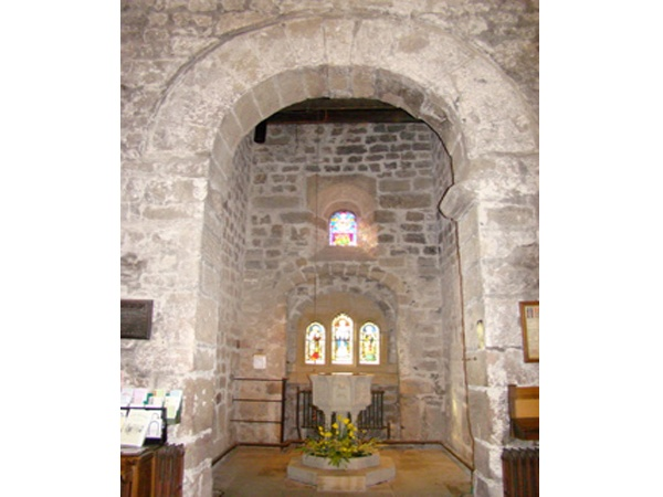 The Baptistery with Roman Arch