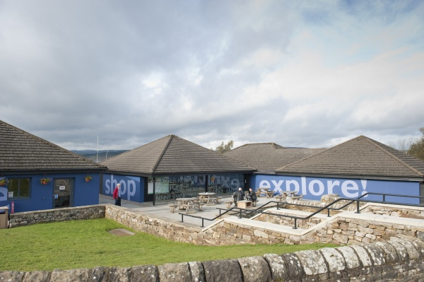 Outside Tower Knowe Visitor Centre