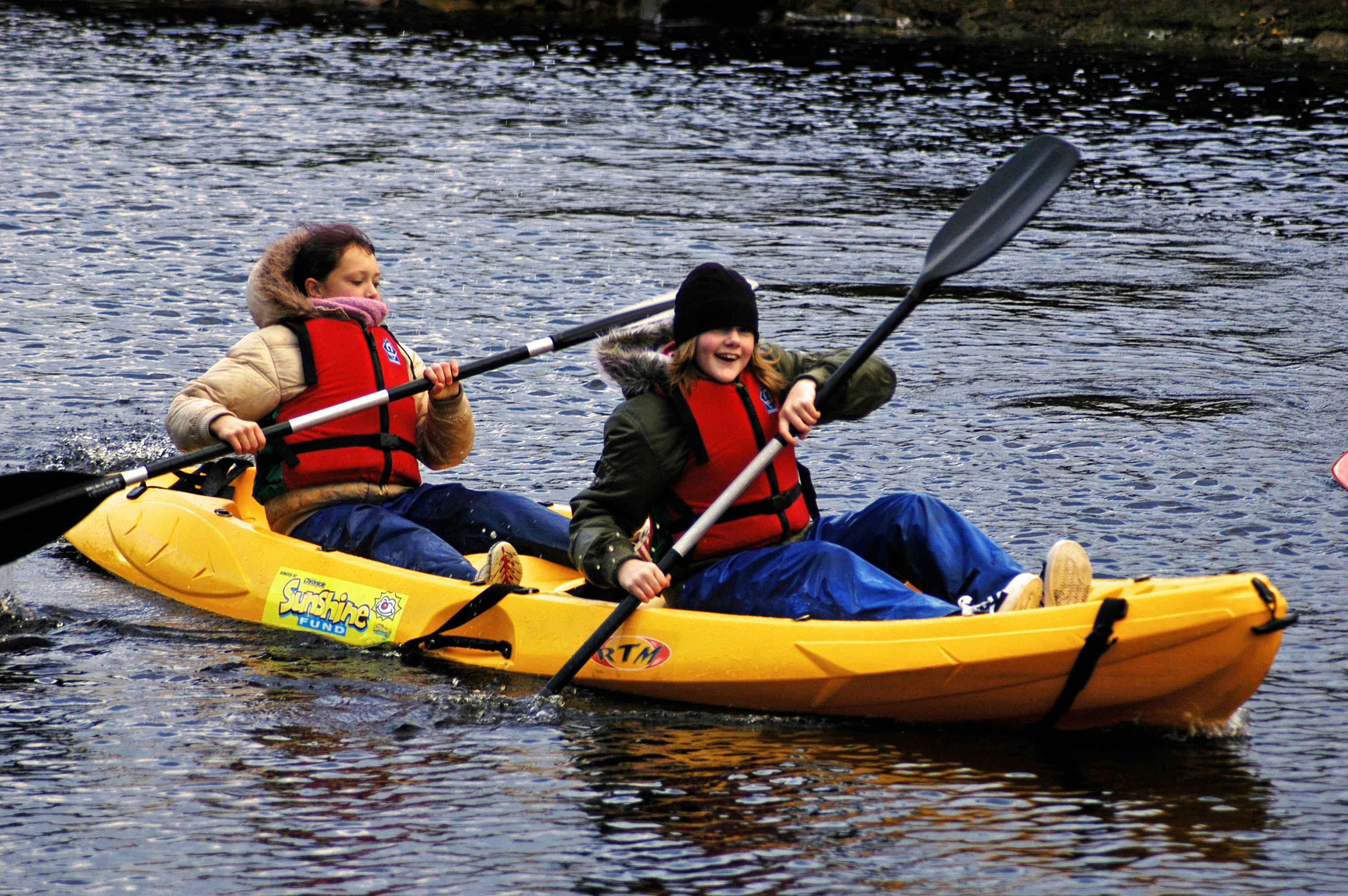 Kayaking with Calverts Trust