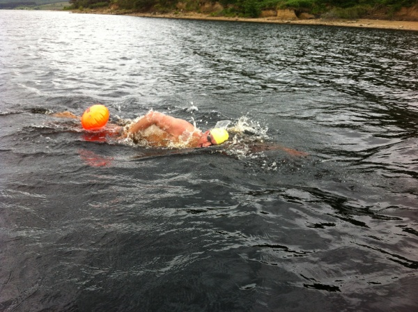 A swim in the park for swimming champion